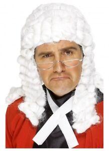 Judge Wig White Barrister Judges Court Fancy Dress Costume Mens Fancy Dress Up