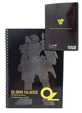 Gundam Wing Oz Tallgeese Spiral Notebook Mobile Suit Official Licensed New Mint