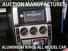 Land Rover Freelander 03-05 Aluminium Ringe für Lüftungsregler / Heizungsregler