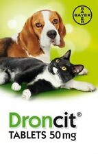 Droncit Tapeworm Worming Tablets (50mg Tablet - AVM-GSL For Use In Dogs & Cats)