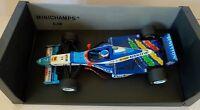 Jean Alesi Hand Signed Benetton B197 Renault 1997 Minichamps 1:18 Diecast Model