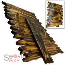 Orc Wooden Shield Troll Hardwood Handmade Rustic Goblin Ork LOTR LARP Weapon