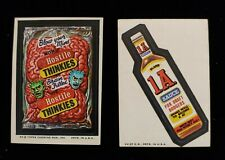 1974 TOPPS WACKY PACKAGES HOSTILE THINKIES SERIES 8 TAN BACK STICKER & 1A SAUCE