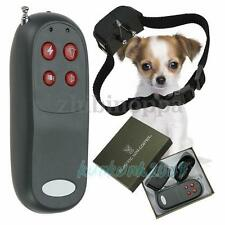 4 In 1 Remote Small Med Dog Training Shock Vibrate Collar Trainer Safe For Pet
