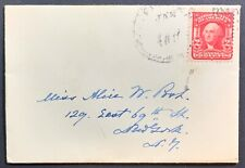 Miniature Cover, US Scott #319 on Lovely Mini-Cover mailed to New York, NY