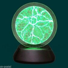 """6"""" Green Plasma Disk Plate Lightning Flash Light Lamp Voice Activate Party Decor"""