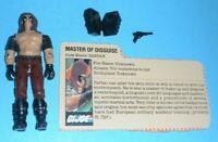 1984 GI Joe Cobra Dreadnok Master of Disguise Zartan Figure w/ File Card *BROKEN
