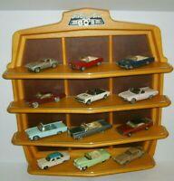 12 Classic Cars of the Sixties 60's Franklin Mint 1/43 Diecast & Display Shelf