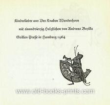KINDERLIEDER - illustriert von Andreas Brylka - Grillen-Presse 1964 - signiert!