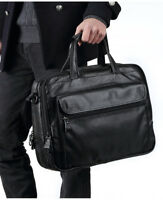"""Men 15.6"""" Laptop Briefcases Shoulder Bag Messenger Bag Handbag Tote Leather Bag"""