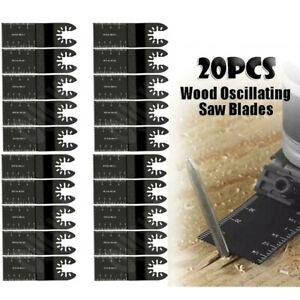 20Pcs Universal Oscillating Saw Blade 34mm Multi Tool Blades Wood Metal Cutter