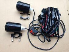 Spot Led De Moto/Luces De Niebla X 2 30W cree 1200LM + Kit de arnés de cableado Telar