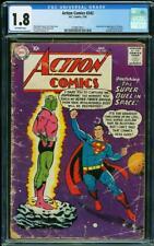 Action Comics #242 CGC 1.8 DC 1958 1st Brainiac! Key Silver Age! L8 211 cm