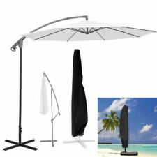 Heavy Duty Parasol Cantilever Outdoor Garden Hanging Umbrella Cover Sun Shade sd