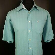 Paul Smith Mens Casual Shirt L LARGE Short Sleeve Blue Regular Fit  Cotton