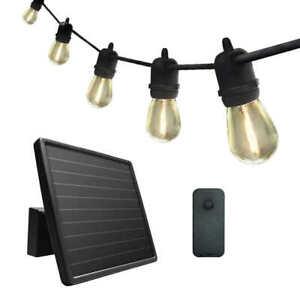 SunForce 15 LED Bulbs Solar String Light w/remote