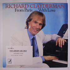 RICHARD CLAYDERMAN: From Paris With Love LP (promo stamp obc, library toc)