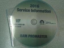 2016 Dodge RAM ProMaster Service Shop Repair Workshop Manual CD DVD NEW