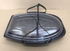 50 x OVALE usa e getta Party piatto vassoi con Coperchi e maniglie Catering funzioni