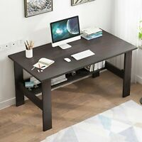 Computer Desk Table Workstation Home Office Student Folding Laptop Study w/Shelf