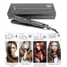 Professional 55W Steam Flat Iron Ceramic Hair Straightener Makeup Tool EU PLUG