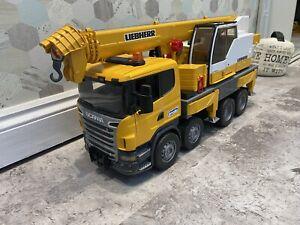 Scania R-Series Liebherr Crane Truck - Bruder 03570 Scale 1:16