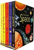 Usborne Look Inside 5 Books Collection Set Look Inside Farm Space Our World New