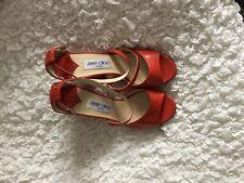 Jimmy Choo Red Strappy Heels 38.5