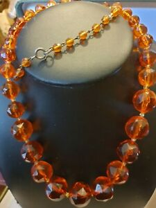 Genuine Baltic Amber fectd   Bead Necklace - 58g