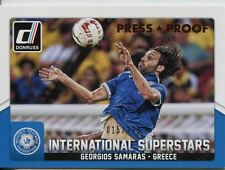 Donruss SOCCER 2015 Bronzo [299] INT. SUPERSTARS Chase Card #65 GIORGOS SAMARAS