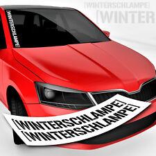 Tuning Sticker Winterschlampe | Schriftzug | Winterkarre Winterauto Aufkleber
