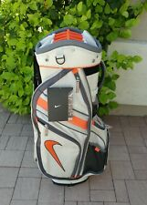 NEW Nike Golf Cart Bag 14 way Dividers with Rain Cover ORANGE WHITE BLACK