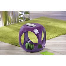 Beistelltisch lila hochglanz Wohnzimmertisch Beistell Tisch Nachttisch Design