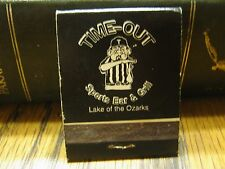 Lake Of The Ozarks Missouri Time-Out Sports Bar & Grill Vintage Used Matchbook