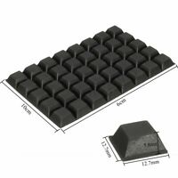 Non Slip Self Adhesive Rubber Bumper Feet Door Buffer Furniture Pad Black    ❤