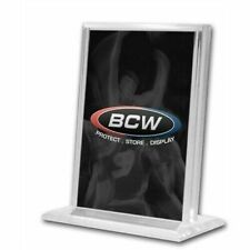 3 BCW Top Loading Vertical Deluxe Acrylic Trading Card Stand Holders Displays