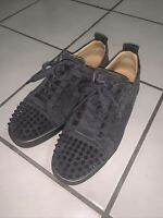 Christian Louboutin Louis Junior Spikes Suede Gray 7.5 US 40.5 EUR 6.5 UK