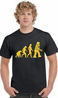 Robot Evolution Hilarious Unisex Geek Vintage Tee Top Kids Mens Girls T-Shirt