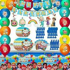 Cocomelon Party Supplies Decoration for Kids Party Favor,Spoons,Fork,Knife,Plate