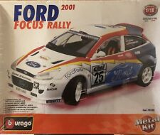 Burago 1/18 2001 Ford Focus Rally Metal Kit made in Italy