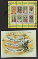 Grenada & Grenadines Lot of 19 MNH Souvenir & Miniature Sheets $105.50