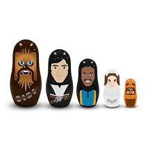 Disney Store Star Wars Rebellion Nesting Doll 5pc Set Chewie Han Leia Ewok Lando