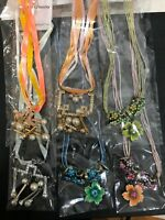 USA 6 PC WHOLESALE LOT COSTUME / FASHION JEWELRY NECKLACE ONLY  #5