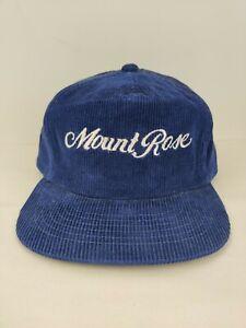 Vintage Corduroy Mt Rose Ski Tahoe USA Trucker Hat Snapback Cap NOS NWOT