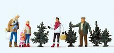 """Preiser 10627 H0 Figuren """"Weihnachtsbaumverkauf""""  #NEU in OVP##"""