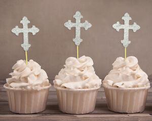 Darling Souvenir Christening Baptism Cupcake Toppers Dessert Decorations-PUE