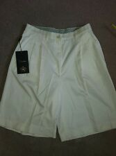 BNWT WOODS & IRON White Cotton Golf Bermuda Culotts Shorts Size 44 UK 10 RRP £78