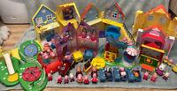 Peppa Pig Large Bundle - Houses, Vehicles, Figures, Rides, Castle, Park,