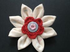 Flor Broche Pin Ramillete tela hecha a mano de moda para Abrigo, Sombrero, Bolso, BUFANDA