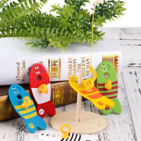 8pcs Wooden Montessori Bab Toy Colorful Fishing Digital Column for Children CF